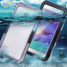 KISSCASE Note 4 Case Swimming Waterproof Cases For Samsung Note 4 Note 5 Phone Screen Underwater Protective Cover Coque Shell