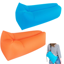 10 Seconds Quick Open Air Sofa Fast Inflatable Sleeping Bag Lazy Sleeping Bed Folding Sofa Beach Sleep Bed Outdoor Camping chair