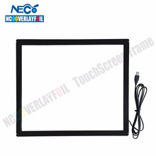 Free shipping  17 inch Multi-touch IR touch screen panel 2 Points touch USB  4:3 format  with Glass For LCD/LED Monitor and PC..