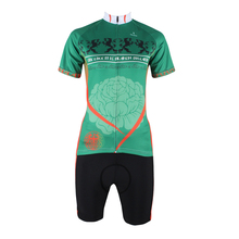 We like it is heaven on earth Women Short Sleeve Cycling Jersey Polyester Breathable Green Breathable Bike Clothes Size XS-6XL