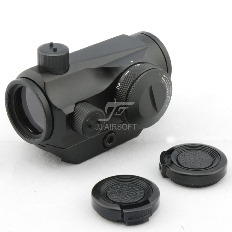 JJ Airsoft 1x24 Red Dot with CNC Low Mount (Black) <br>