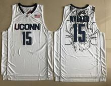 Kemba Walker #15 Uconn Huskies University of Connecticut College basketball Jersey Embroidery Stitched Custom any Number name