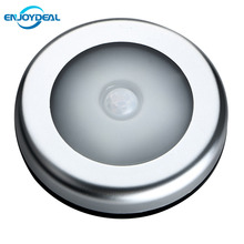 2018 New 6 LED PIR Body Motion Sensor Activated Wall Light Night Light Induction Lamp For Closet Corridor Cabinet HOT(China)