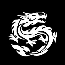 Chinese Dragon Car Stickers Windshield Decal Car Body Decals Bumper Stickers
