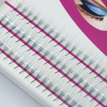 2boxes Volume 3D Eyelash Extensions 0.07 Thickness Hair Mink Strip Eyelashes Individual Lashes Fans Lash Natural Style(China)