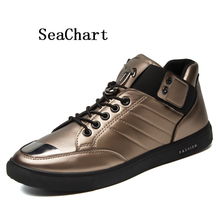 SeaChart Men's Skateboarding skateboards Men Sports Sneakers Metal Matial Shoes Toe Outdoor Hombres zapatos chaussures para uomo