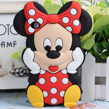 NEW Lovely Cute 3D Cartoon Mickey Mouse Minnie Silicone Cover Case  for Apple iPod Touch 4 4th +3D touch pen free shipping