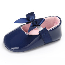 Cute bow baby girls dress shoes Brand sequin PU Leather 12 colors Baby moccasins Prewalkers princess ballet Shoes(China)