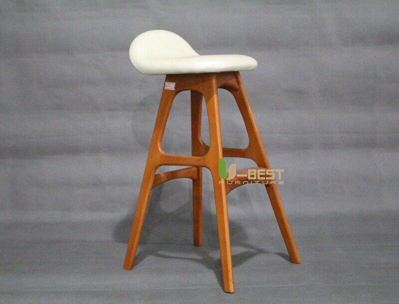 erik buch bar chair counter chair white PU cushion shining u-best furniture (3)