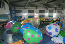 Z127 Free shipping height 3m wholesale customized decorative inflatable easter egg/Easter Eggs Balloons for festival decoration