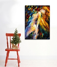 100% Handpainted Abstract Nude Girl Canvas Paintings Sexy Image Wall Pictures for Living Room