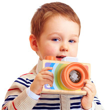 Baby Kids Cute Wood Camera Toys Children Fashion Clothing Accessory Safe And Natural Toys Birthday Christmas Gift 30