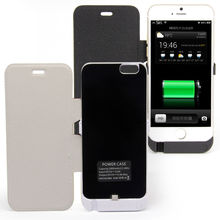 3000mAh portable Rechargeable Backup External Battery Pack Charger Power Bank with leather Case stand Cover for iphone 6 6s 4.7