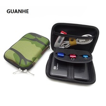 GUANHE Military green Carry Case Cover for 2.5 inch Power Bank USB external WD seagate HDD Hard Disk Drive Protect Bag Case(China)