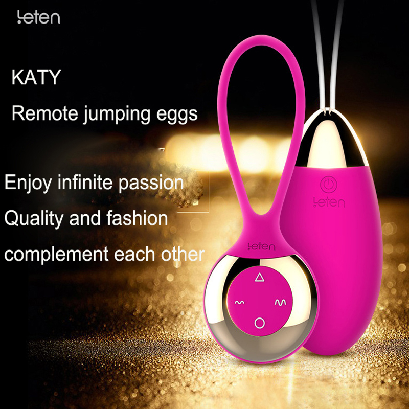 Leten jumping egg Bullet Vibrators for women Wireless Remote Control Egg Vaginal Anal Adult Sex Products Sex Toys for Woman gay<br>