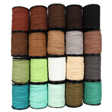 Black White Brown 100Yards 3mm Flat Faux Suede Korean Velvet Leather Cord String Rope Thread Lace Jewelry Finding for Choker DIY(China)