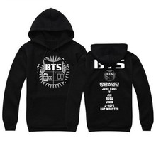 2017 Kpop BTS Clothing Hoodies for Women Men Hooded Sweatshirts Street Fashion Hip Hop Hoodie Plus Size Hoody Women's Tracksuits