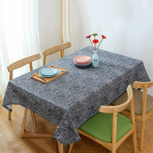 Wholesale Coffee Tablecloths Japanese Style Dinner Table Cloth Wave Pattern Cotton Linen Tablecloth Home Kitchen Table Covers