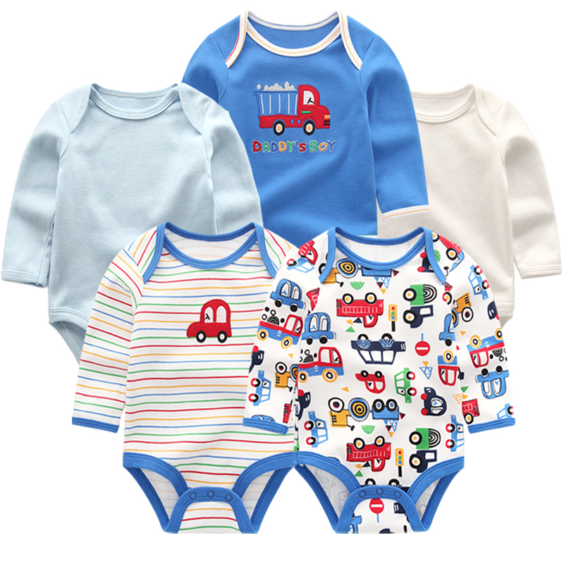 Super Baby clothes 5 Pcs/Lot Short Newborn bodysuits & one-piece 2018 Summer Clothing Set Infant Jumpsuits(China)