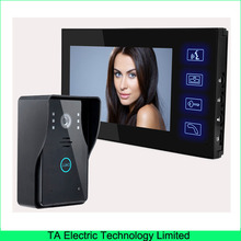 "7"" TFT digital color LCD video doorphone one to one intercom system new touch keypad with night vision IR camera  806MJ11"
