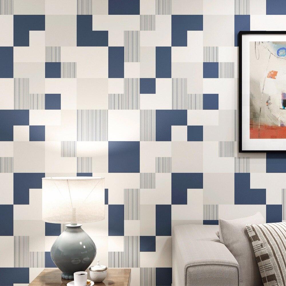 3D Wallpaper Modern Plain Color Simple Lattice Non Woven Wallpaper Living Room Bedroom TV Sofa Backdrop Wall Papel De Parede 3 D<br>