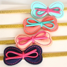 Korean Style New Novelty Hairbands Bow Girls Headbands with Ribbon Glitter Gold Bands Princess Pink Hairbands Bowknot Hotsale