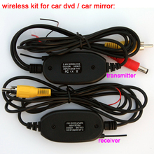 2.4Ghz Wireless Kit Car RCA Color Video Transmitter and Receiver to Connect RCA Plug Rear View Camera and DVD Player Monitor HD(China)