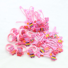 24 PCS/ set 2017 Fashion cute girls hair accessories elastic hair bands Child Rubber Band hair clip kids gifts Headwear