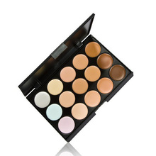 FREE SHIPPING Professional 15 Colors Concealer Color 1 Facial Face Cream Care Camouflage Makeup Blush Palettes Cosmetic base(China)