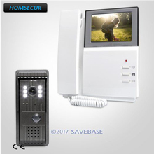 HOMSECUR TFT LCD 4.3inch Video Door Intercom System With Quality Night-Vision with Color Images 1 Monitor+1 Camera(China)