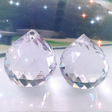 Newly 1PC Boutique Vintage Crystal Clear Feng Shui Ball 30*35mm Placed In Window Ornament Make Rainbow(China)