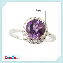 Beadsnice ID25582 high quality elegant natural amethyst rings for custom made rings