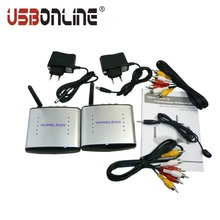 USBONLINE 150M 2.4G Wireless A/V TV sender Audio Video Transmitter & Receiver PAT-220 IR Remote Extender For DVD DVR STB IPTV