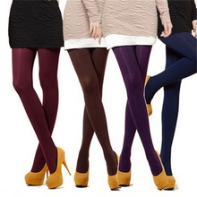 2016 Hot Sexy Fashion Women 8 Colors Spring Autumn Footed Thick Opaque Stockings Pantyhose Soft Comfortable Tights Party  Stocki