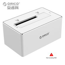 "ORICO HDD Docking Station Sata Ide Hard Drive Tool Free 2.5""/3.5"" USB 3.0 SATA3.0 Aluminum Hard Disk for Witch Macbook Silver(China)"