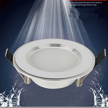 1pcs Dimmable Waterproof LED Downlight 220V 7W/9W/12W/15W/18W LED Bulb Light Recessed LED Spot Light For Bathroom(China)