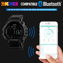 SKMEI Men Smart Watches Sports Pedometer Waterproof Digital Wristwatches Man Remote Camera Call Reminder Relogio Masculino 1249(China)