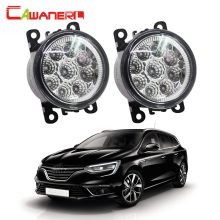 Cawanerl For Renault Megane III Coupe Grandtour Hatchback Car LED Lamp Fog Light Daytime Running Light DRL 12V DC 1 Pair