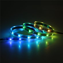 Mokungit  3.3ft 1M 30 Pixels WS2812B Individual Addressable LED Strip Light WS2811 Built-in 5050 RGB LED Rope Light Waterproof