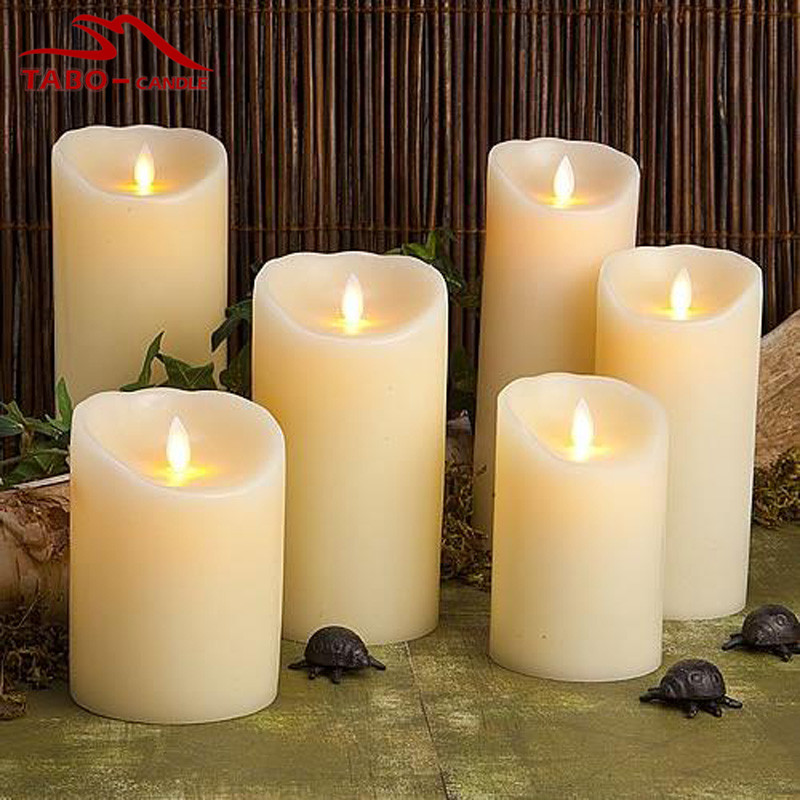 1pc Flickering Flameless Dancing Flame Led Pillar Candle Light Party Wedding Candles Safety Home Decoration In 7 Inch From Garden On