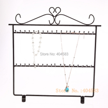 BlackPainted Steel Necklace Display Stand Bracelet Display Stand Jewelry Display Holder 36 hooks(China)