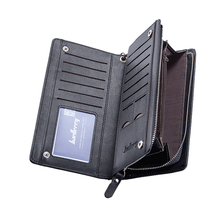 Famous Brand Men Leather Wallets Card Holder Luxury Clutch Wallet Purse High Quality Business Mobile Phone Handy Bag Coin Pocket