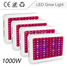 4PCS Double Chips LED 100*10W 1000W LED Grow Light/Lamp Ful spectrum For Hydroponics&Medical Plants