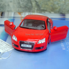 10pcs/pack Wholesale Brand New KT 1/32 Scale Germany 2008 Audi TT Diecast Metal Pull Back Car Model Toy