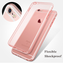 Ultra Slim Transparent Crystal Clear Soft TPU Silicone Rubber Protect Camera Cover Case for iPhone 7 Plus with Dust Plug 200pcs