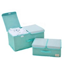Oxford Waterproof Folding Storage Box Clothes Sundry Children's Toy Books Underwear Organizer