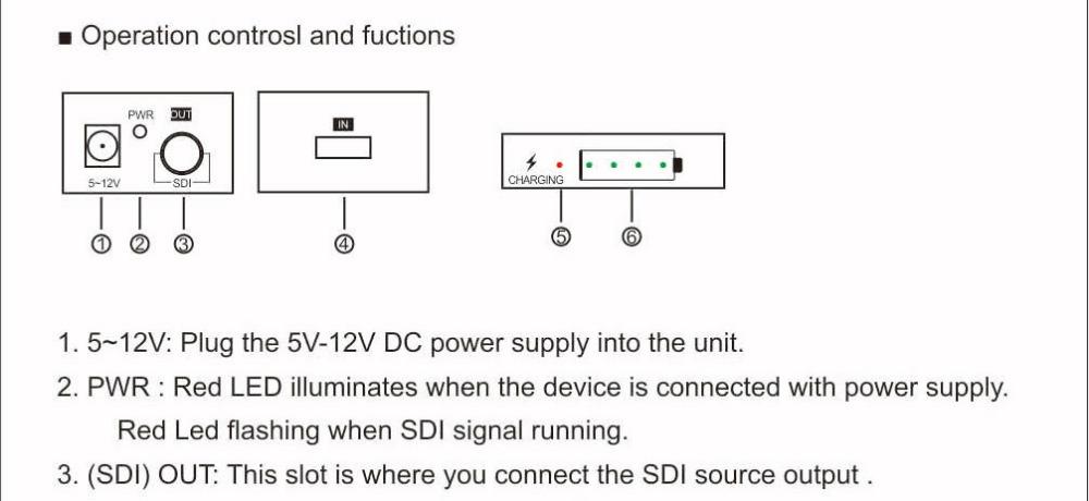 MiraBox Design Battery Converter HDMI to SDI Adapter SD HD-SDI 3G-SDI Multimedia 1080p HD Video Converter Portable Mini Size (6)