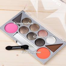 11 Smoky Colors Makeup Eye Shadow Palette Blush Eyebrow Powder Warm Nude Shimmer