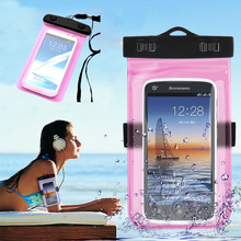 Mobile Phone Waterproof Bag Case for iPhone 7 6 6s Plus 5s SE Underwater Water Proof cover for Samsung S8 Plus S6 S7 edge Note 5