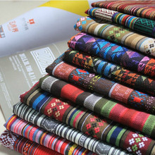 (50 cm/lot) ethnic fabric for sewing zakka vintage fabric patchwork fabric DIY handmade yarn dyed table cloth curtain dress bag